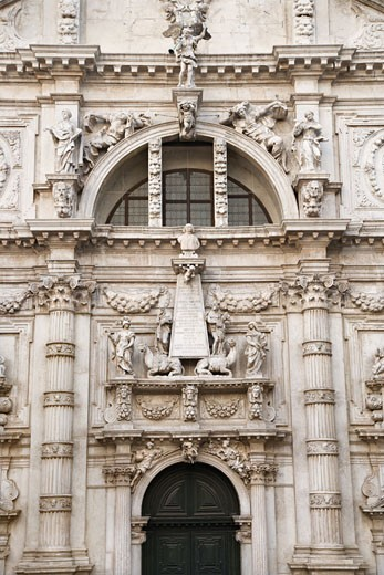 Facade of San Moise Church in Venice, Italy. : Stock Photo