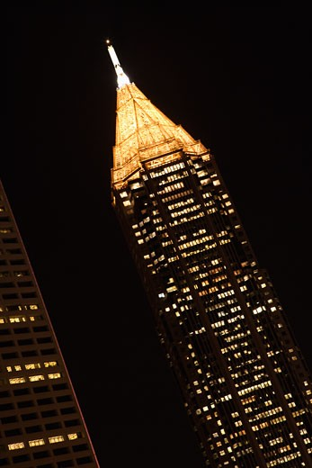 Stock Photo: 1525R-102769 Nightscape of Atlanta, Georgia buildings.
