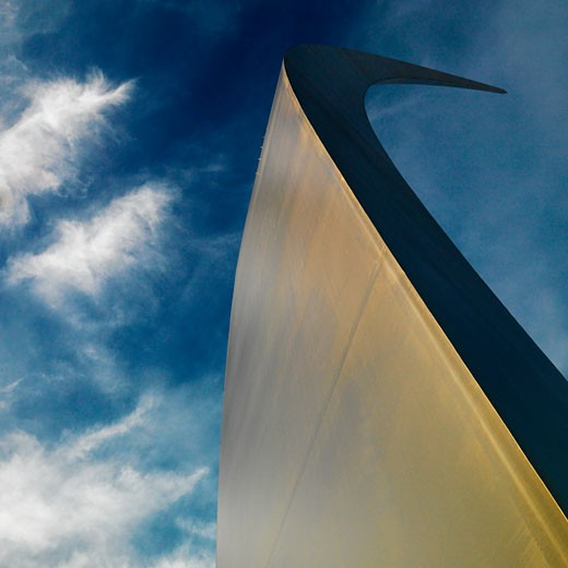 Spire of Air Force Memorial in Arlington, Virginia, USA. : Stock Photo