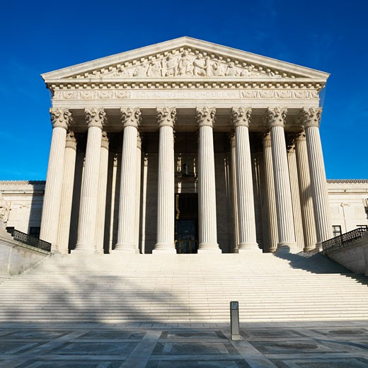 Supreme Court Building, Washington, DC, USA. : Stock Photo