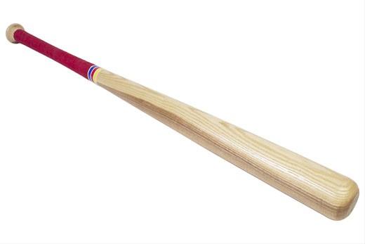 Brown wooden baseball bat : Stock Photo