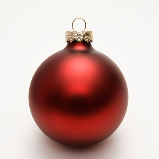 Still life of red Christmas ornament. : Stock Photo