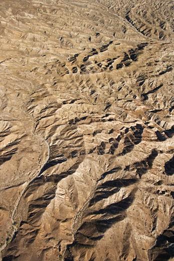 Aerial view of mountainous terrain in southwest. : Stock Photo