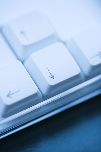 Close up of arrow keys on computer keyboard. : Stock Photo