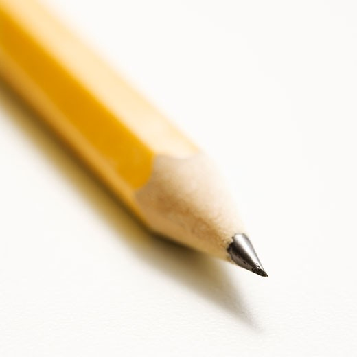 Stock Photo: 1525R-105969 Close up of sharp pencil tip.