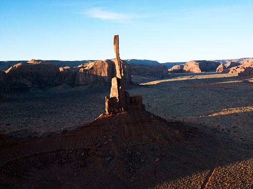 The Totem Pole sandstone rock formation in Monument Valley, Utah. : Stock Photo