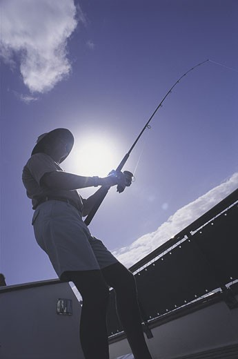 Stock Photo: 1525R-1106 person fishing