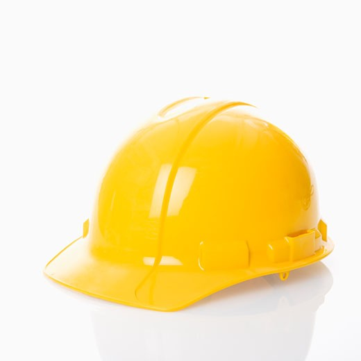 Yellow safety hard hat. : Stock Photo