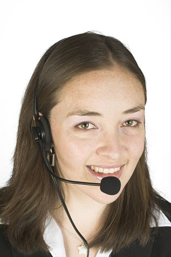 beautiful customer services representative 2 : Stock Photo