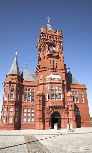 pierhead building - cardiff bay : Stock Photo