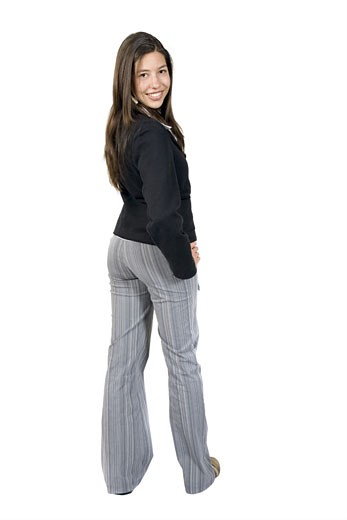 business woman full body over a white background : Stock Photo