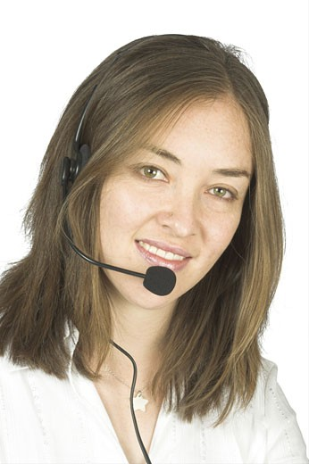 beautiful business customer representative : Stock Photo