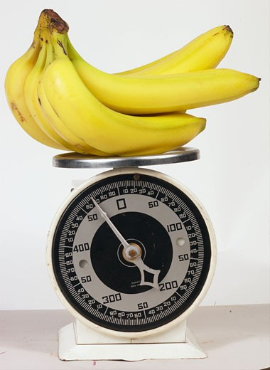 bananas on scale 6 : Stock Photo