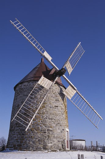 Stock Photo: 1525R-11678 Stone wind mill