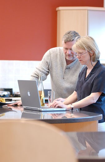 Stock Photo: 1525R-116999 two people with laptop at desk