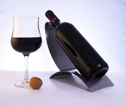 A glass of an elegant, quality red wine. : Stock Photo