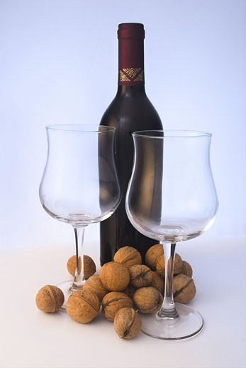 A glass of quality red wine. : Stock Photo