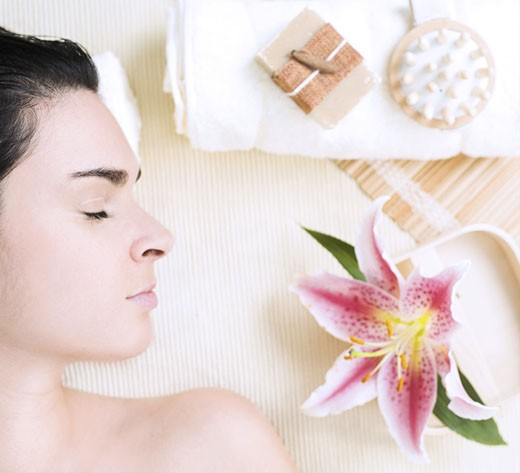 Conceptual image of wellness and welness therapy. : Stock Photo