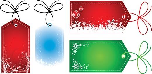 Stock Photo: 1525R-119400 christmas gift tags
