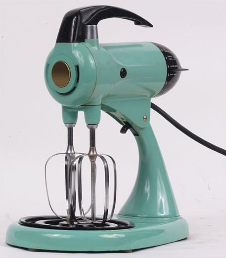 Green electric mixer L5 : Stock Photo