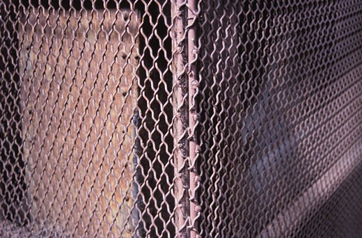 Stock Photo: 1525R-12384 Rusty chain link fence