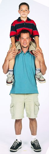 Stock Photo: 1525R-13175 Father and son together