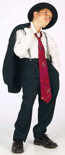 Stock Photo: 1525R-13196 boy wearing adult suit
