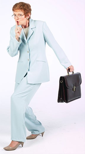 Woman with briefcase BE 4 : Stock Photo