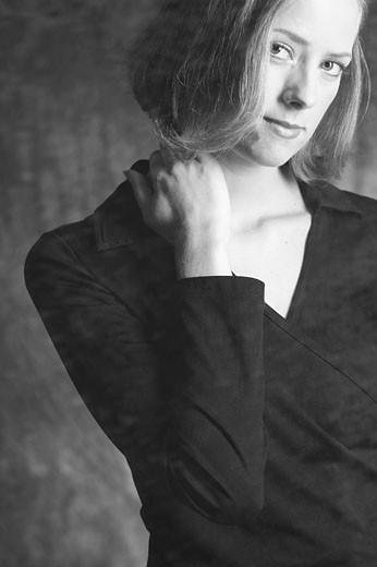 Stock Photo: 1525R-13546 Woman in dark shirt BE 5