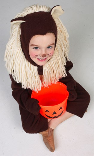 Child dressed as lion  : Stock Photo