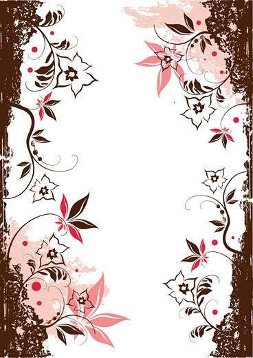 Floral Vector Elements : Stock Photo