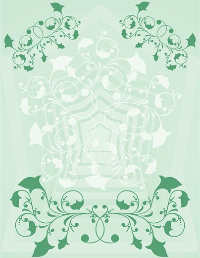 Stock Photo: 1525R-140384 Ornamental background, vector