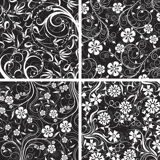 Decorative floral pattern, vector : Stock Photo