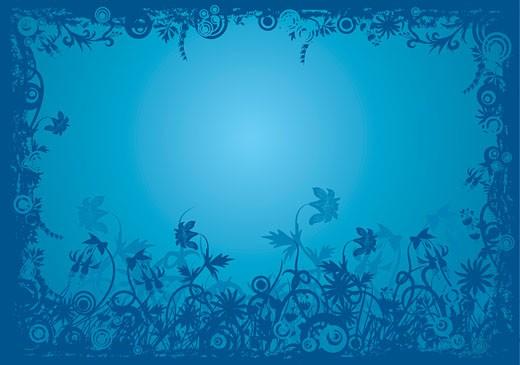 Floral grunge frame, vector : Stock Photo