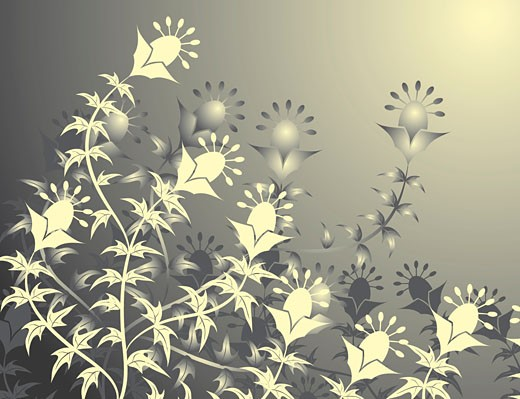 Floral background, vector : Stock Photo