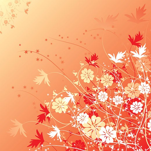 Stock Photo: 1525R-141375 Floral background, vector