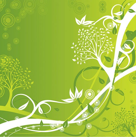 Stock Photo: 1525R-141474 Tree background, vector