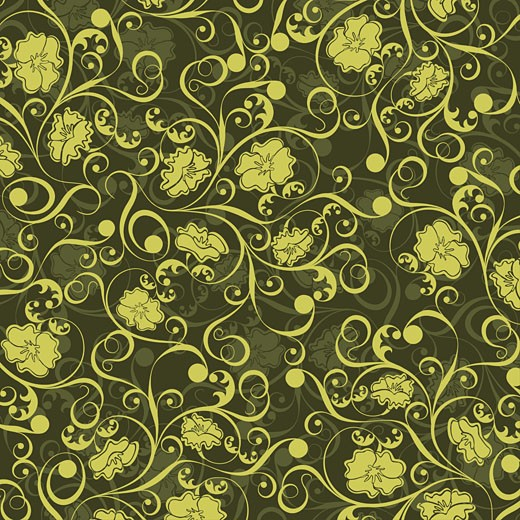 Floral pattern, vector : Stock Photo