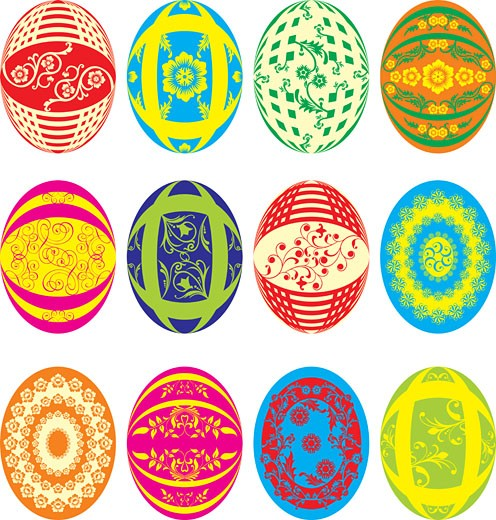 Easter eggs, vector : Stock Photo
