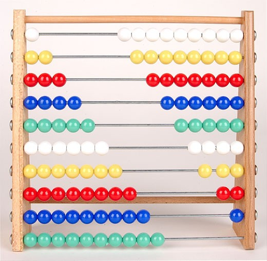 Colored abacus  : Stock Photo
