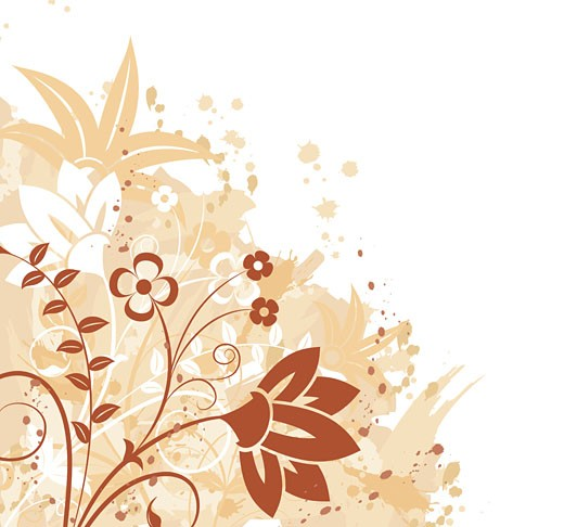 Stock Photo: 1525R-142122 Grunge floral background