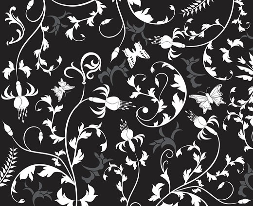Abstract floral pattern, vector : Stock Photo