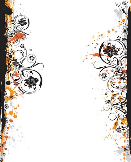 Abstract floral frame : Stock Photo