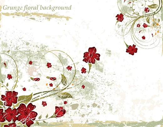 Stock Photo: 1525R-142417 Grunge floral background