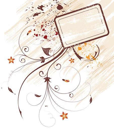Grunge flower background : Stock Photo
