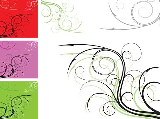 Stock Photo: 1525R-142989 Element for design, corner flower, vector