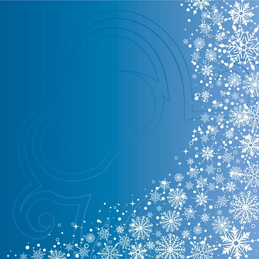 Christmas background with snowflakes : Stock Photo