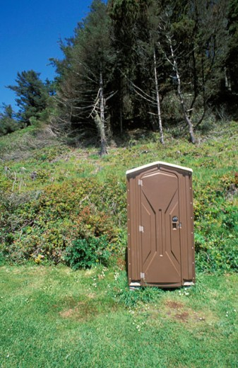 Stock Photo: 1525R-14518 Outhouse