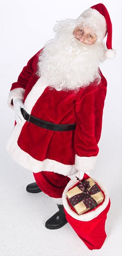 Santa with bag of presents  : Stock Photo