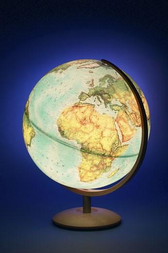 Lit up globe  : Stock Photo